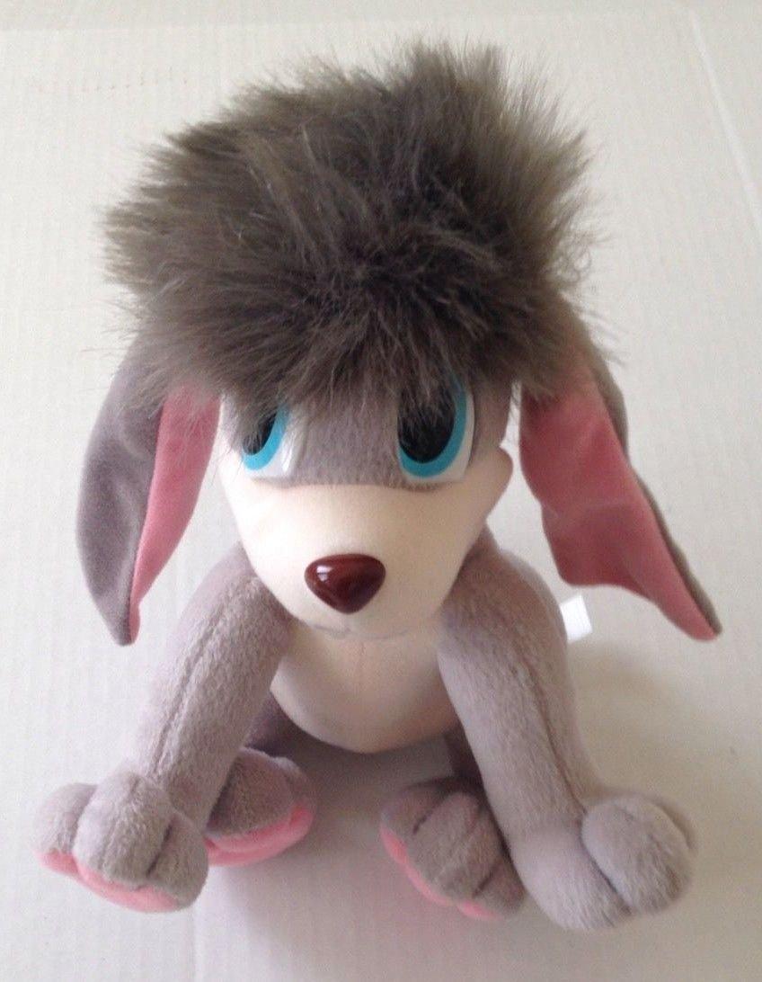 Buy 1997 Fox Plush Anastasia Pooka Gray Pink Dog Ears Move Flap