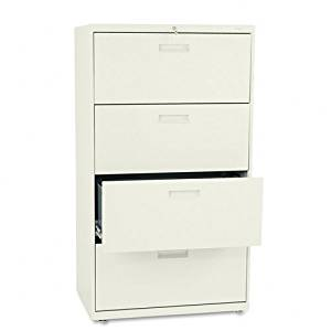HON : 500 Series Four-Drawer Lateral File, 30w x53-1/4h x19-1/4d, Putty -:- Sold as 2 Packs of - 1 - / - Total of 2 Each