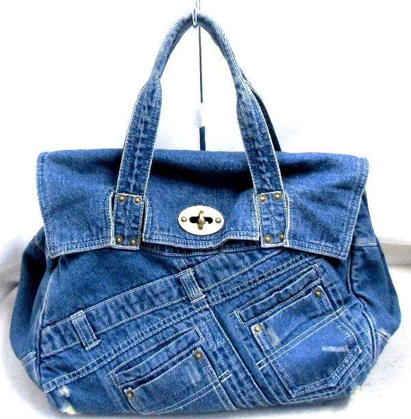 703e34d38 Mujeres Jean lona lavado piedras vaqueros bolsas de tela bolsa de asas jeans  Denim bolsos mujeres