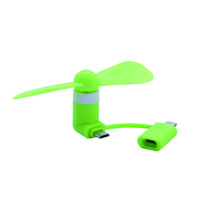 Creative mobile phone mini USB fan three-in-one multi-function fan for Android Apple phone small fan
