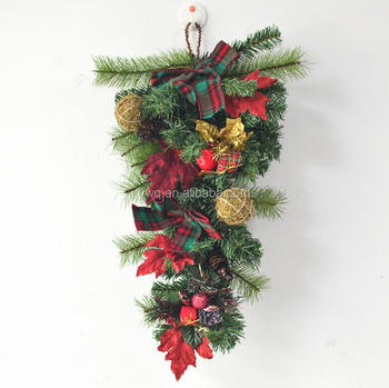 45cm Upside Down Christmas Tree Hanging Solar Chtistmas