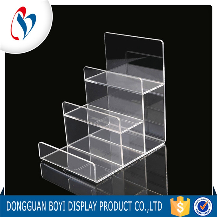 3 Step Product Acrylic Display Stand Large Perspex Cell Phone Display Holder