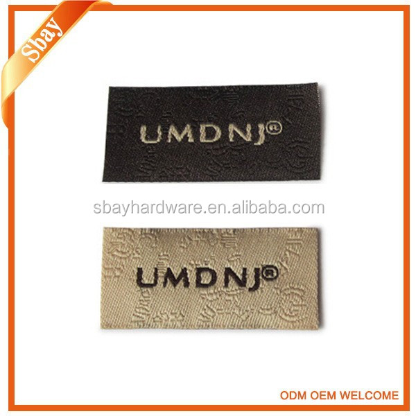 Custom clothing woven label leather label for garment