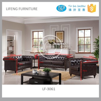 2017 China Latest Living Room Sofa Design Lf 3061