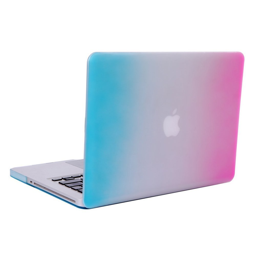 """UNIK CASE-Rubberized Hard Case for Macbook 15/"""" with Retina Display-Hot Pink"""