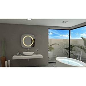 IB MIRROR Lighted Bathroom Mirror HALO 40 In X 40 In 3000 K