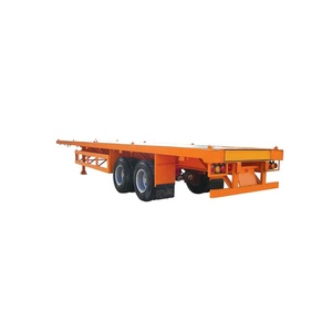 High quality 40 tons two axle flatbed semi trailer for sale