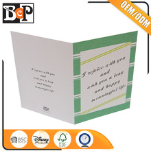 Hot Sale Foldable Cute 3D Pop Up Greeting Card For Daughter