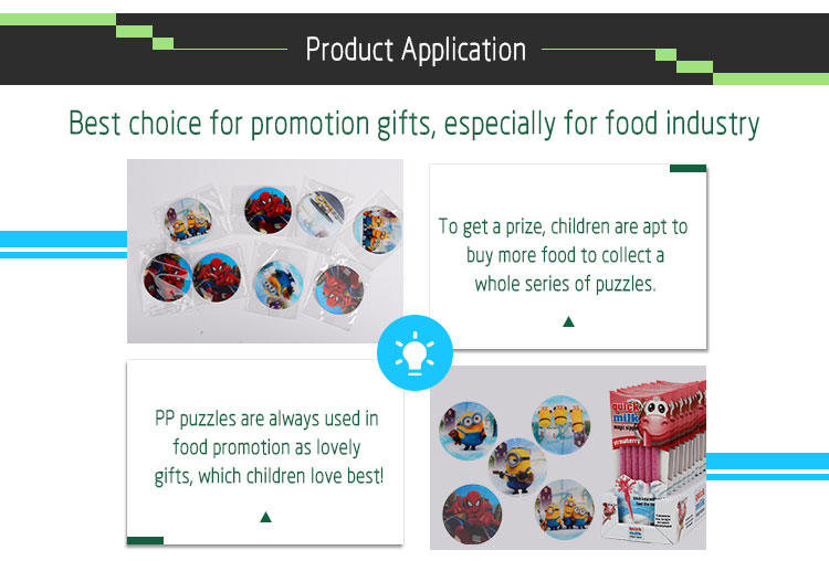 Food promotion customized lenticular tazo card