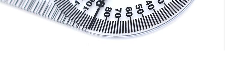ไม้บรรทัดพลาสติก (กำหนดเอง) โลโก้พิมพ์มุมองศาเครื่องมือวัดพีวีซีไม้บรรทัดปวดด้วย Goniometer