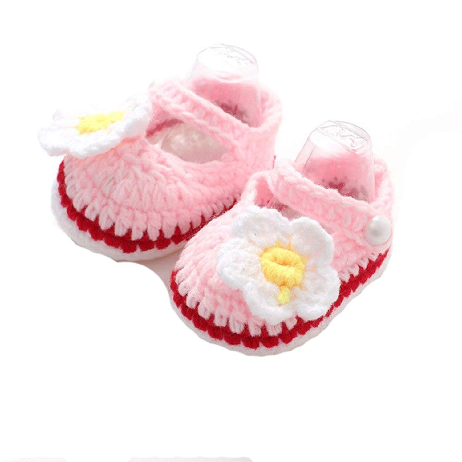 0c8b87a1a97c Get Quotations · Baby s shop Baby Girl Shoes Crib Crochet Baby Girls Flower  Bow Tie Handmade Sandals for Girls