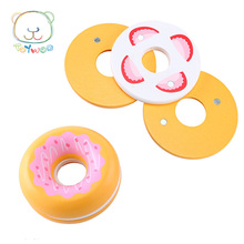 Wooden Kitchen Food Toys Doughnuts for Children Playing