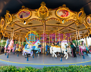 Fairground Attractions Entertainment Rides Amusement Park Equipment 88 seats Outdoor Double Layer luxury Carousel horse