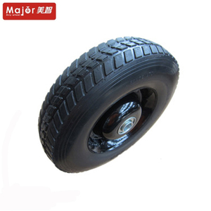 large 400mm ball bearing rubber spare pneumatic wheel/axle wheelbarrow replacement tyre 4.00-8 tires