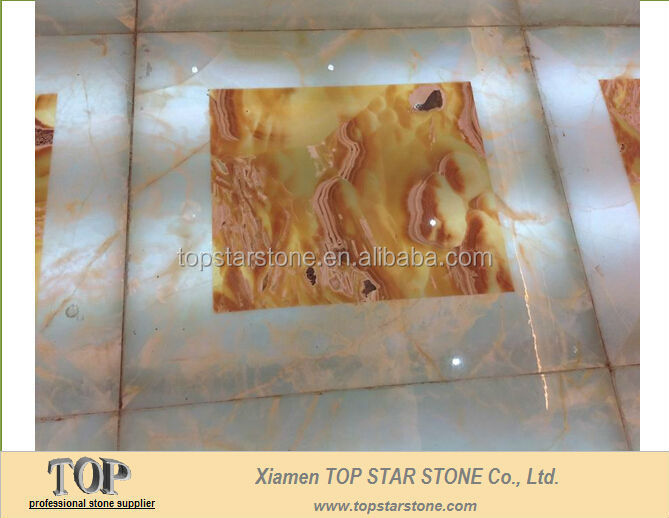 Translucent Onyx Composite Glass Tile