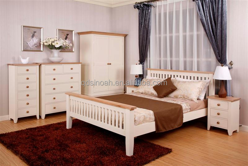 Blanco Pintado Muebles De Dormitorio De Pino - Buy Product on ...