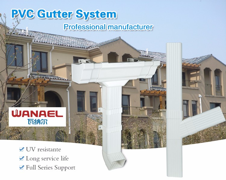 High Quality White Color Upvc Roof Rain Gutters Fittings Downspouts - Buy  Gutter Downspout,Rain Gutters Downspouts,Upvc Roof Gutter Fittings Product