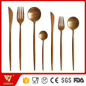 Hot Sale Copper Cutlery Stainless Steel Matte Polish Rose Gold Cutlery