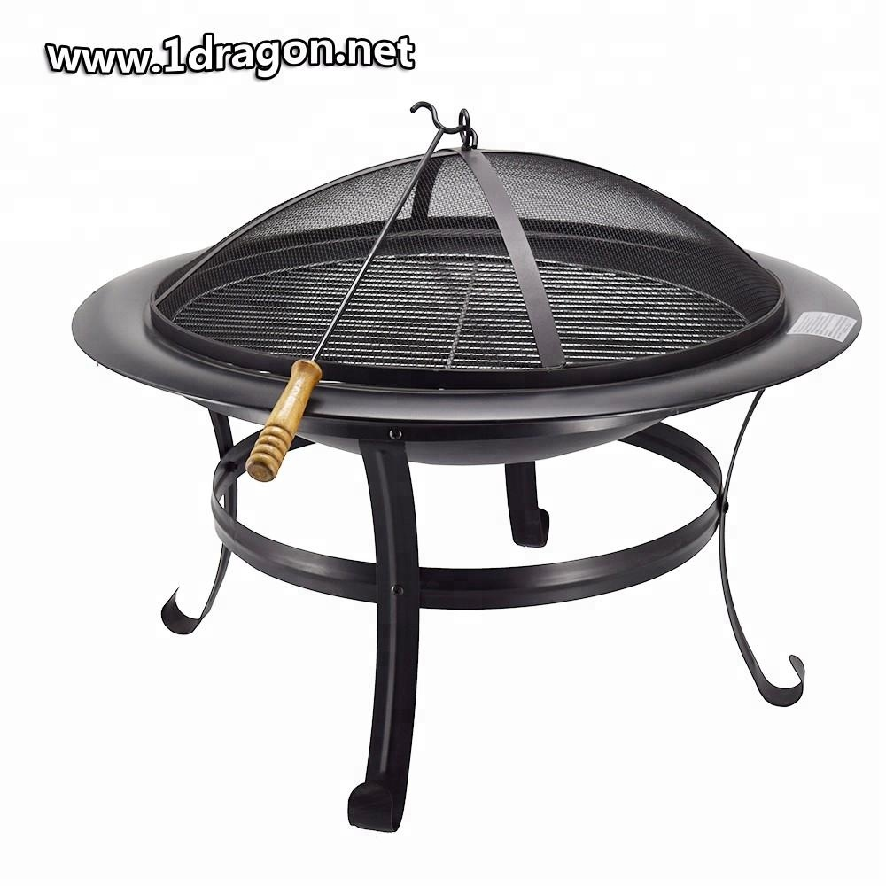 26 Cast Iron Fire Pit Pan Bbq Barbecue Oven