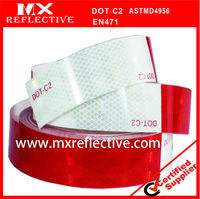 "6"" Red+ 6""White vehicle Conspicuity dot c2 Reflective Tape"