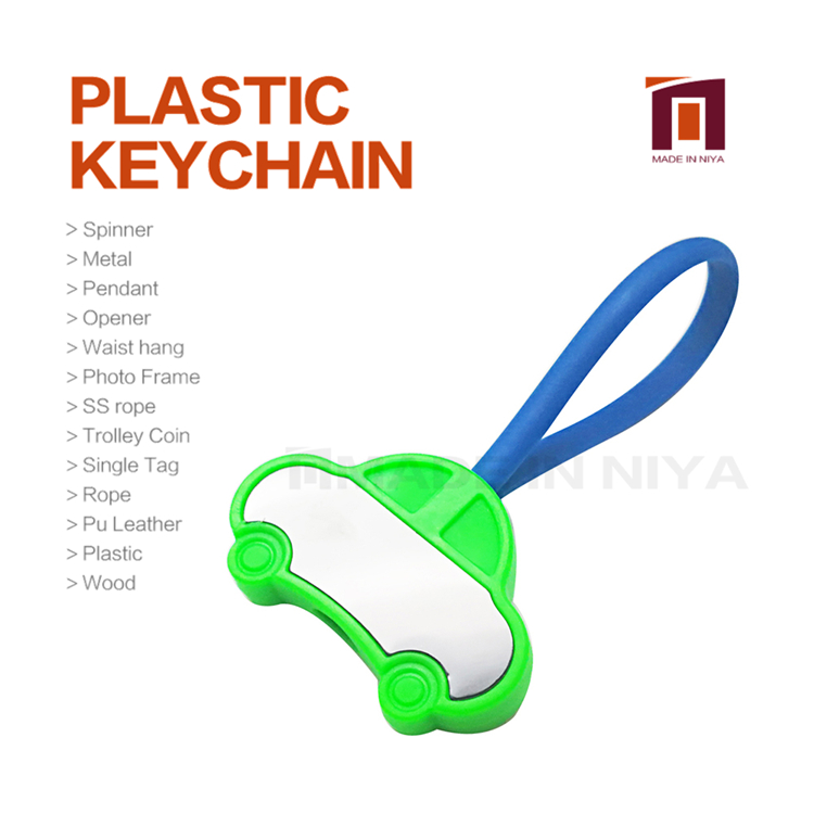 Karachi Blank Clear Car Plastic Attachment Keyring Keychain All In One