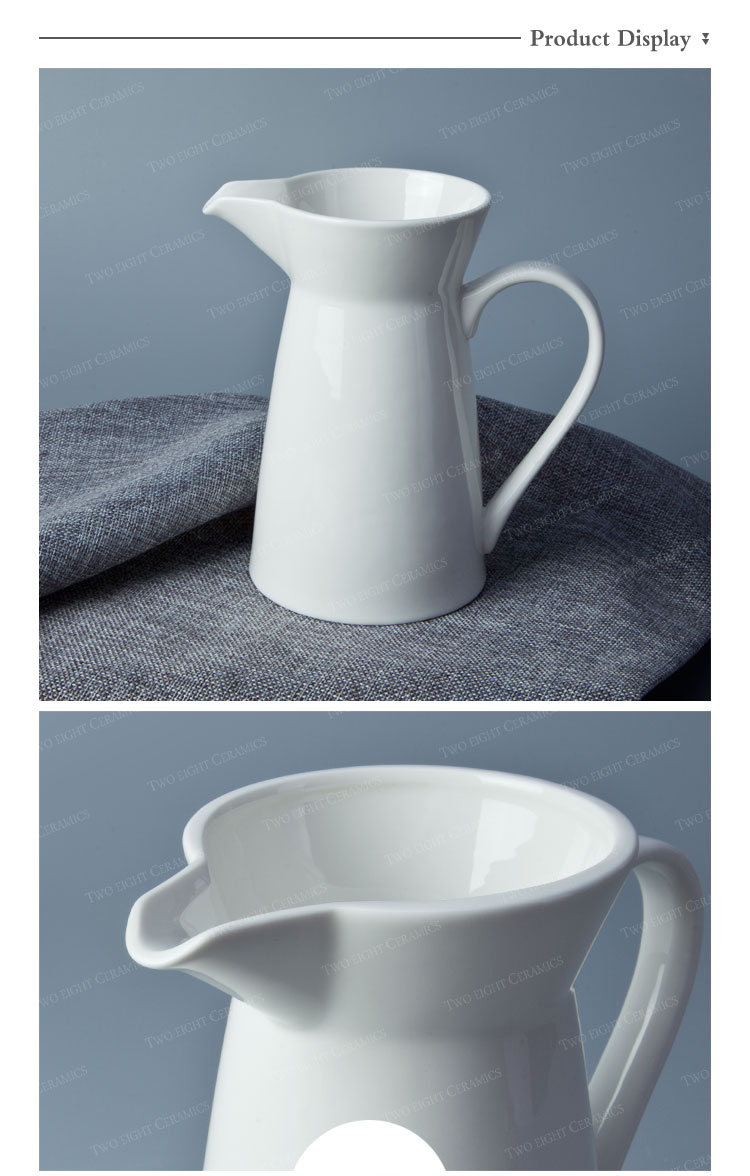 Hot product small medium big ceramic milk jug spanish water serving decorative milk jug