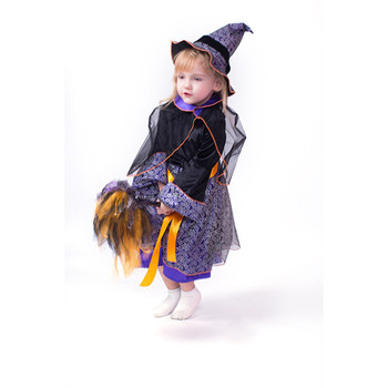 Halloween costume suppliers wholesale kids witch costumes halloween dress custom