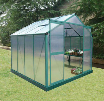 8x10ft Garden Aluminum Greenhouse With Polycarbonate Sheet - Buy Rain  Shelter Greenhouse,Garden Greenhouse For Sale,Walk Mini Greenhouse Product  on