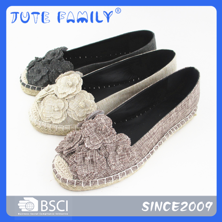 Flower canvas espadrilles shoes