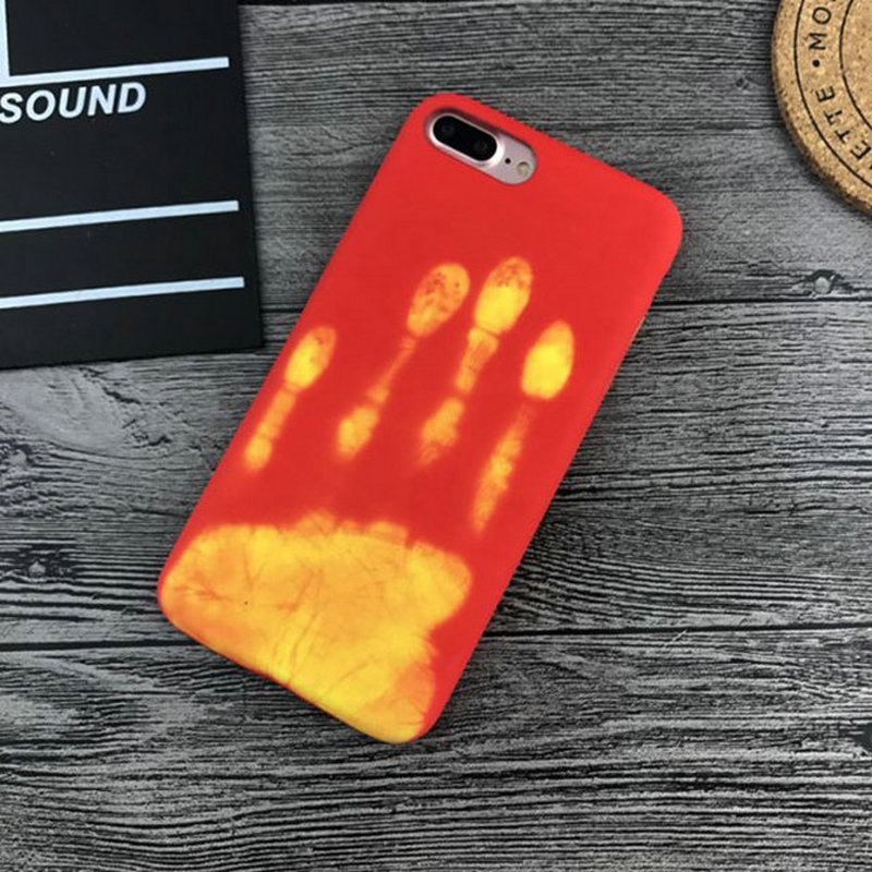 Latest Creative Soft Thermal Heat Sensitive Phone Case For iPhone 6 6S 7 7Plus
