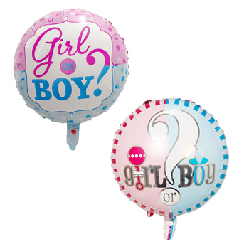 baby shower balloon helium stuffing babyshower party balloons foil 18inch round gender reveal he or she boy or girl balloons