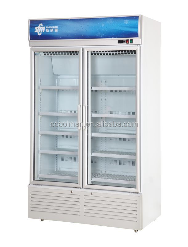 Dynamic Cooling Double Door Cold Drink Fridge For Convenience Store - Buy  Cold Drink Fridge,