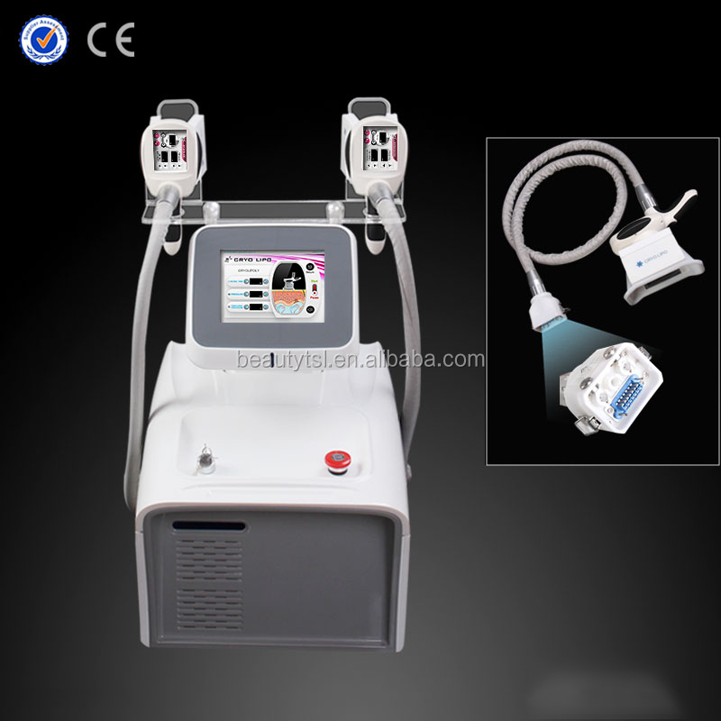 Best technology two cryo handpiece work simultaneously fat freezing fat cell slimming portable cryolipolysis machine