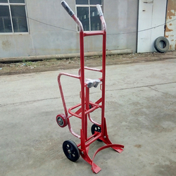 Steel Industry Moving Hydraulic lifting manual oil drum trolley