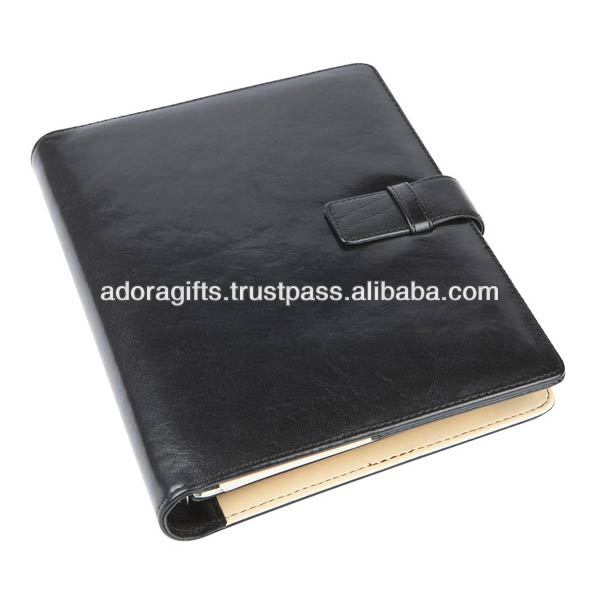 oem promotional leather notebook and diary / professional pu leather notebook / popular new design lock diary notebook