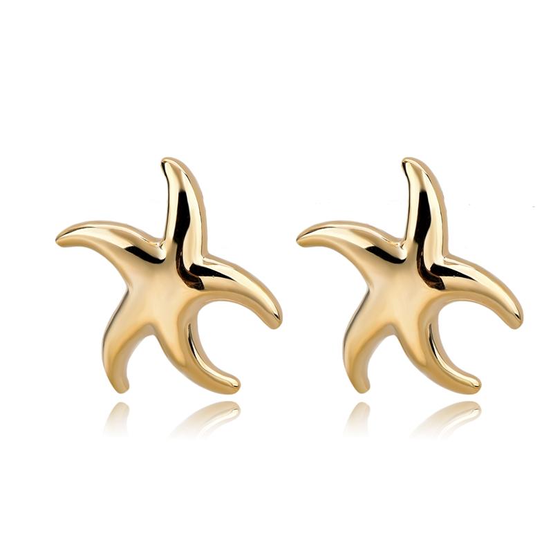 New Design Fashion Jewelry ,Ceramics Earrings For Women Girl gold star stud earrings