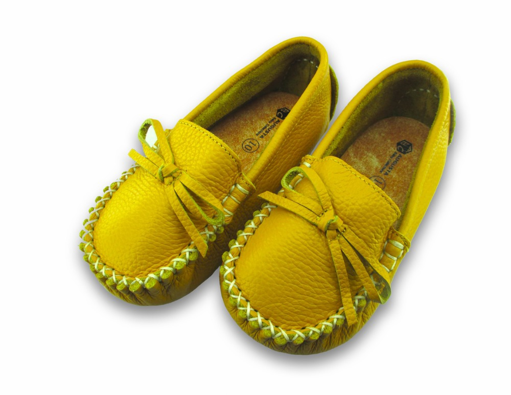 First top layer of leather baby boy & girl first walkers baby shoes flower prewalker toddler wholesale soft BDD005 yellow