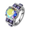 Tryme Hot Wholesale color zircon ring Platinum Round zircon ring