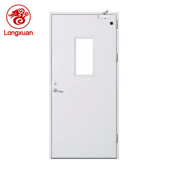 Single Leaf Fire Doors With Glass Panels 2 Hours Fire Rated Door
