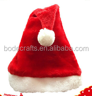 BD-FZ038 unisex plush Christmas cap Christmas party dress up party supplies with Christmas hat wholesale