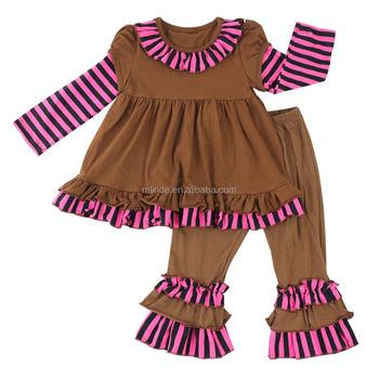 8a47ac9b4 Las Niñas De Punto A Rayas De Algodón Conjuntos De Ropa Vestido Y  Pantalones Ropa De Niños - Buy Ropa Para Niños Y Vestido Elegante,Ropa Para  ...