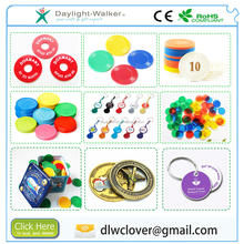 Hard Colored transparent Custom promotional print emboss Plastic Coins