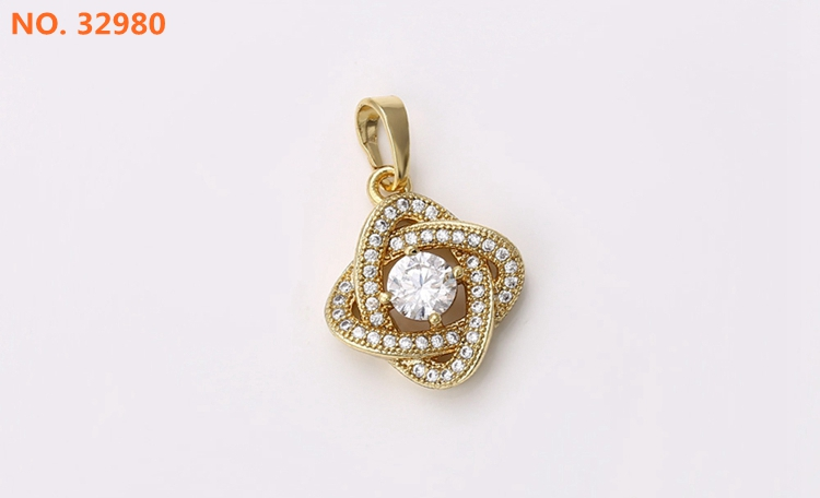 31037 xuping wholesale cute cz fashion in 14k gold plated jewelry pendant