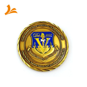 High quality customized gold metal antique souvenir use challenge coin