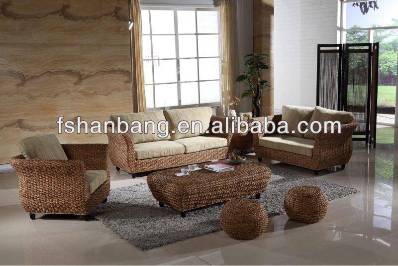 Hall de l 39 h tel h tel canap en rotin chaise chaises d - Canape rotin interieur ...
