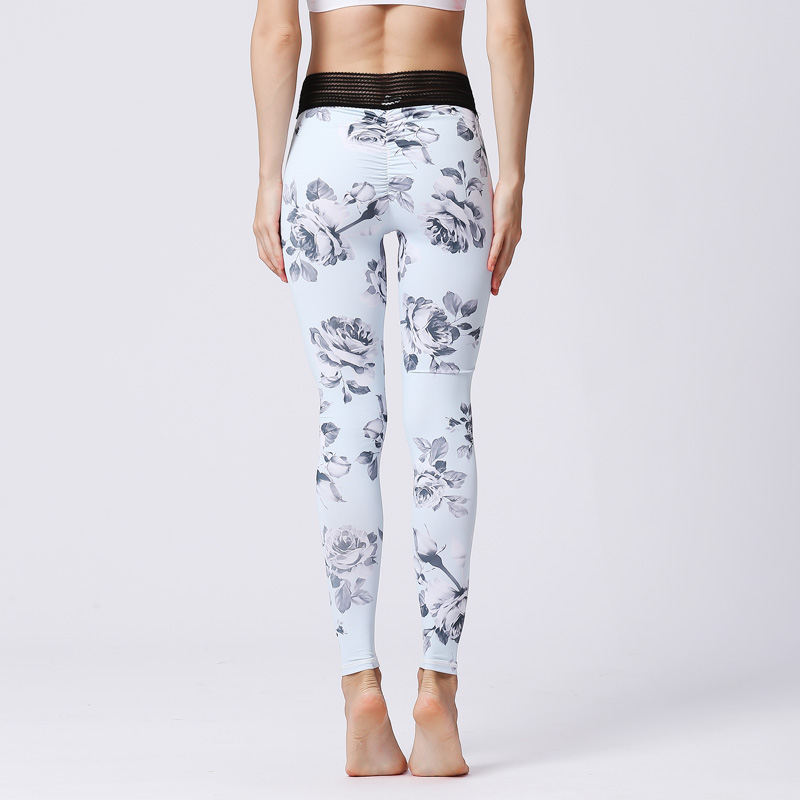 Tight printed stretch fitness running exercise training Leggings 3