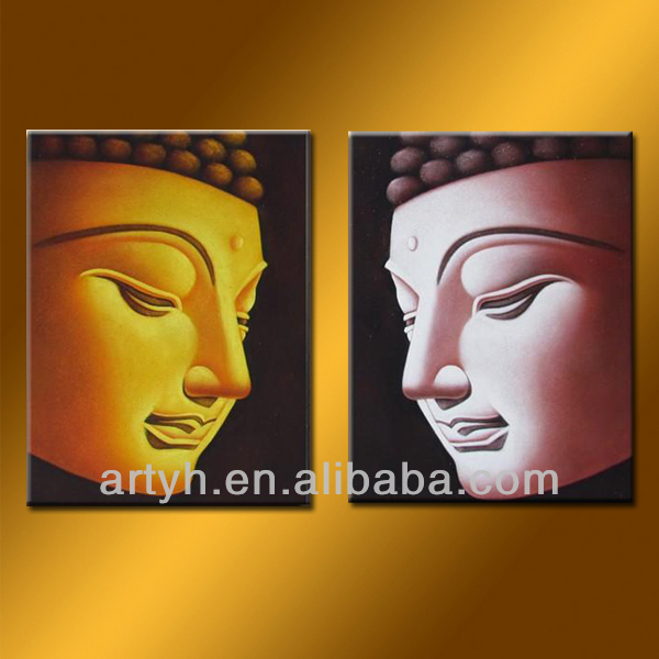 Handmade Buddha Painting On Canvas For Decor