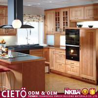 Guangzhou company l shaped modular designs mini fridge pvc edge tape for furniture kitchen cabinet