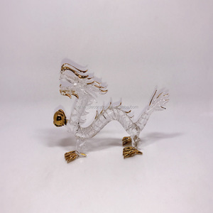 2017 new style hand blown glass dragon new products on china market