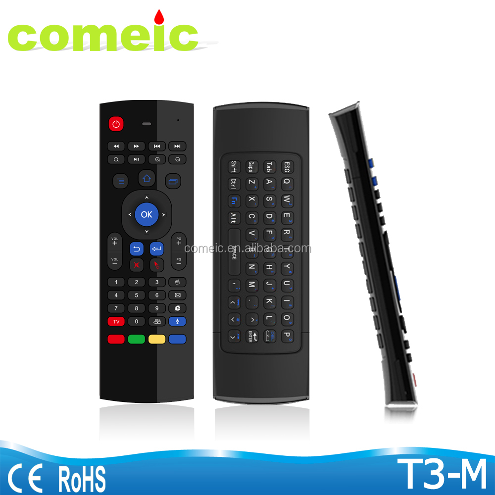 2.4G Afstandsbediening T3 Air Muis Draadloze mini Toetsenbord + Voice voor XBMC Android Mini PC TV Box